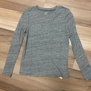 NWT Madewell heathered gray long sleeve tee